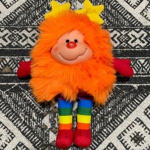 Rainbow Brite OJ Orange Stuffed Plush Sprite 1983